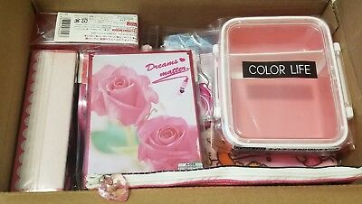 Kawaii/Cute Accessories Pink Box Bento Mirror Pouch (16 items) Lot