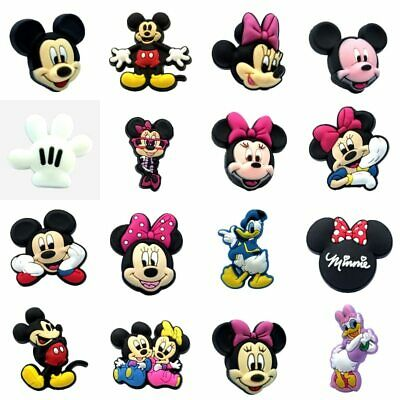 1PCS Mickey Minnie PVC Shoe Charms Well-Made Shoe Accessories Shoe Buckles