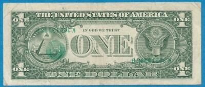 $1.00 1985 Rare Third Printing Offset Seal+ Serial Numbers On Back  Same Number