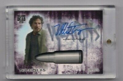 Walking Dead Hunters & Hunted Nicholas Autographed Weapons Medallion Card #/10!