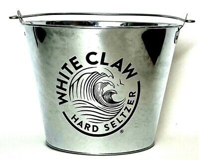 White Claw Hard Seltzer 5 Qt Ice Bucket - Metal - One (1) - New & Free Shipping