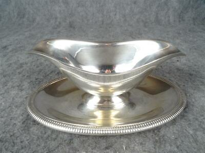 W.M Rogers Gravy Boat W/ Attached Drip Plate