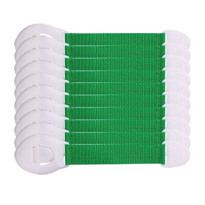 10x Baby Cabinet Lock Adhesive Kids Protection Straps Latch 19-25cm Green