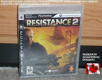 PS3 - RESISTANCE 2 (Brand NEW Sealed) NTSC CDN Seller RARE CLEAR CASE BLACK LABL