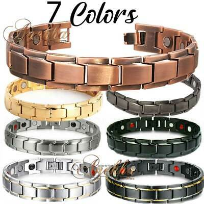 Copper Bio Magnetic Bracelet Arthritis Therapy Titanium Stainless Steel Px02