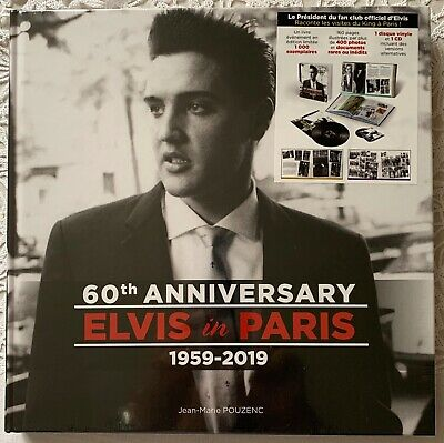 Elvis In Paris Deluxe Limited Edition Hardcover Book Cd Vinyl 1000 Copy Sealed