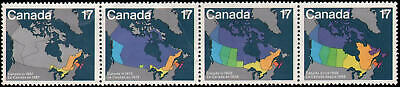 Canada #890-893 MNH strip of 4