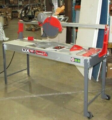 "Rubi DX-350-N 1300 Laser & Level 58"" Cut 12"" (1""arbor) Tile Saw with Plunge Cut"