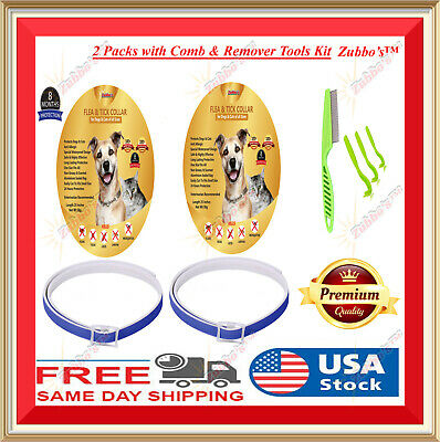 Flea and Tick Collar for Small Medium Large Dog Cat 8 Month Protection Treatment