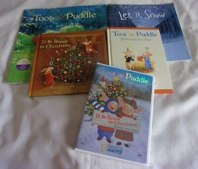 Set of 5 Toot & Puddle picture books + DVD by Holly Hobbie