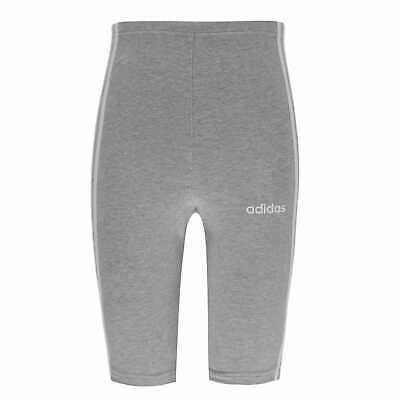 adidas Kids Girls Essential 3S Shorts Junior Jersey Pants Trousers Bottoms