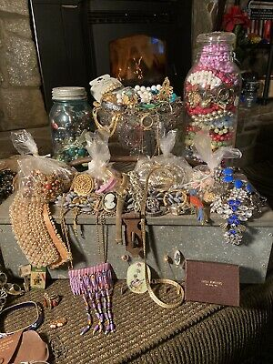 Lot of Costume Jewelry 2-3+LBS Grab Bags- UNSEARCHED,UNTESTED- WEAR,SELL,CRAFT