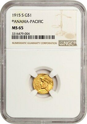 1915-S Panama-Pacific G$1 NGC MS65 - Popular Gold Commemorative Issue