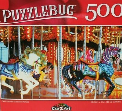 Cardinal 500 Piece Jigsaw Puzzle 11in X 14in Carousel Horse