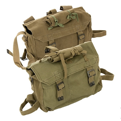 Vintage canvas army surplus small rucksack backpack NEW/OLD stock