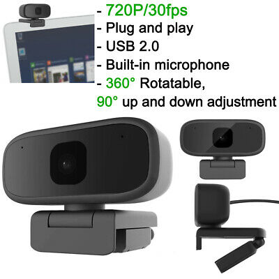 HD 720P Webcam Rotatable Web Cam Camera for Computer PC Laptop Video Microphone
