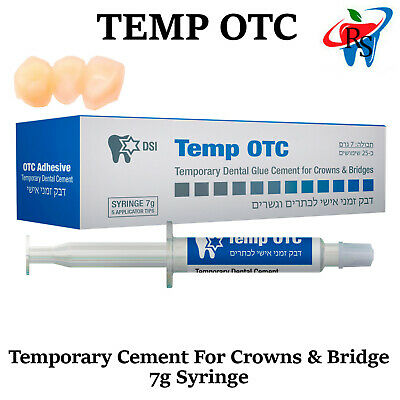 Temporary Cement 7g Crowns Caps DIY Teeth Emergency First Aid Home Use