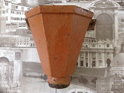 Vintage Cast Iron Antique Victorian Water Hopper Terracota Colour Salvage Item