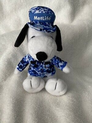 Snoopy Plush - MetLife Blue Camouflage