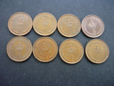 Half New Penny coins