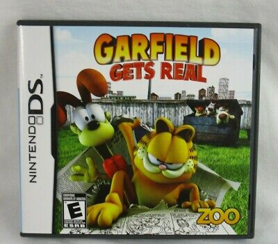 Garfield Gets Real Video Game Cartridge Nintendo Ds Case Sleeve Insert 9 99 Picclick