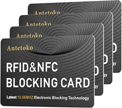 RFID Blocking Card | NFC Contactless Cards Protection | Protect Entire Wallet