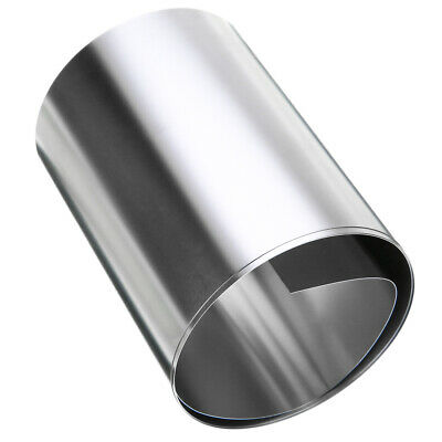 0.2mm x 100mm x 1m Silver 304 Stainless Steel Fine Plate Sheet Foil 1pc New