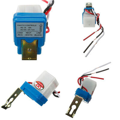 AC DC12V 10A Auto On Off Street Photocell Light Switch Photo Control Sensor