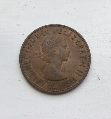 1967 Queen Elizabeth Ii One Penny Coin Gb Uk