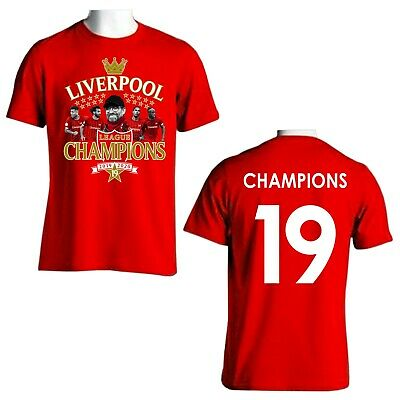 Liverpool Champions Of England 2019/2020 Adult Red T-Shirt Gift Souvenir