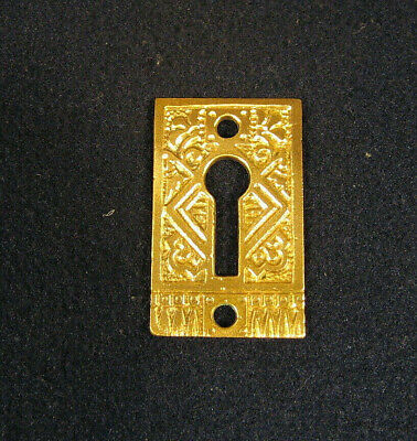 Antique Victorian Eastlake Skeleton Key Hole Cover Escutcheon Corbin 1890's A