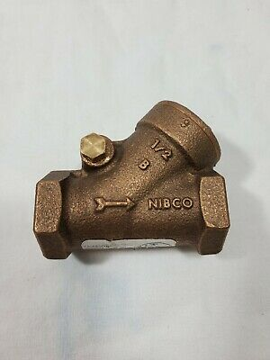 NIBCO Y-Pattern 1/2 in. Brass Treaded Check Valve - USA