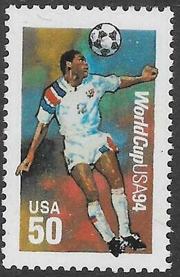 Scott 2836 US Stamps 1994 World Cup 50c Heading Ball MNH
