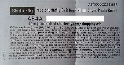 "Shutterfly Coupon 8"" x 8"" Hard Cover Photo Book ($29.98 Value) Exp: June 30th"