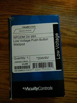 Acuity Controls NPODM DX WH Low Voltage Push- Button Wallpod NEW!
