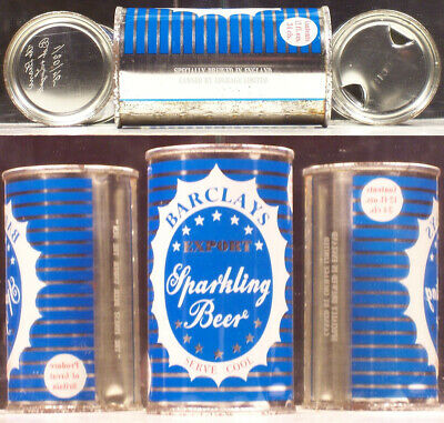 Barclays Export Sparkling Beer 12 oz Flat Top Can Courage Linited England A541