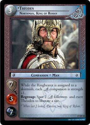 Esdla Ccg 1x Théoden,Northman,King Of Rohan - 17RF14 - Foil Casi Impecable Rise