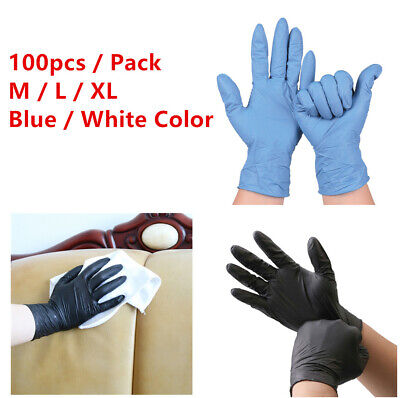 PINHEN 100pcs Disposable Nitrile Gloves for Kitchen Cooking Food Home Cleaning