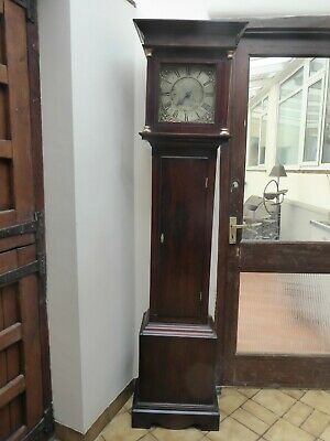 1 Hand 30 Hour Grandfather Clock Joseph H Bishop Bridport Free Shipping England