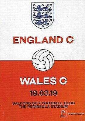 England C v Wales C Official Matchday Programmes 19th March 2019