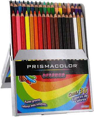 Prismacolor Colores Colored Pencil Set Assorted 36 Count Packaging And Pencils