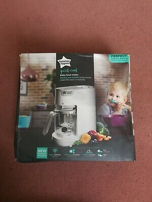 Tommee Tippee Quick Cook Baby Food Maker Steams & Blends - White
