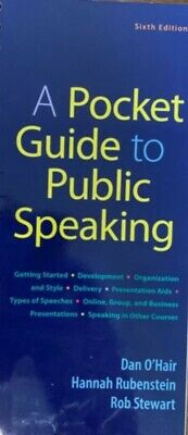 (Digital) A Pocket Guide to Public Speaking 6th Edition