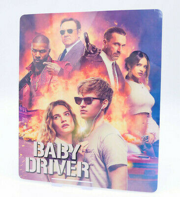 BABY DRIVER - Bluray Steelbook Magnet Cover (NOT LENTICULAR)