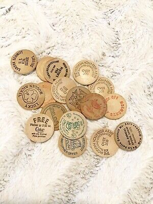1970s/80s Lot of Wooden Nickels Coins from New Orleans Mardi Gras Parades