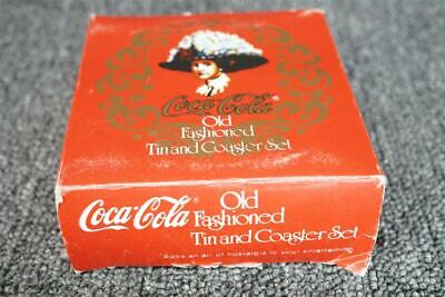 Coca-Cola Old Fashioned Tin And 6-Coaster Set