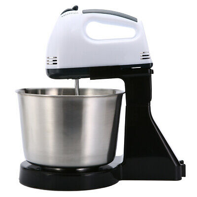 7 Speed 100W For Electric Dough Egg Cake Mixer with 2 Beaters 2 Dough Hook Bowl