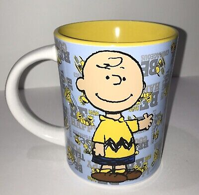 Charlie Brown Cup Mug Peanuts Gibson 16 oz Be Persistent Happy Courageous Cool