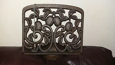 Original Vintage Cast Iron Country Stile Recipe Book Stand
