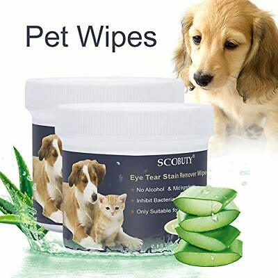 SCOBUTY Pet Wipes, Pet Eye Wipes 200 pieces, Tear Stain Remover Wipes, Eye